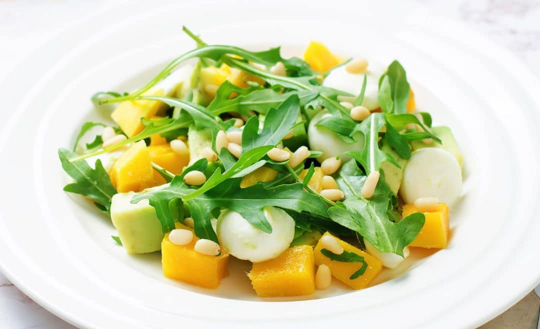 Mango Avocado Mozzarella Salad