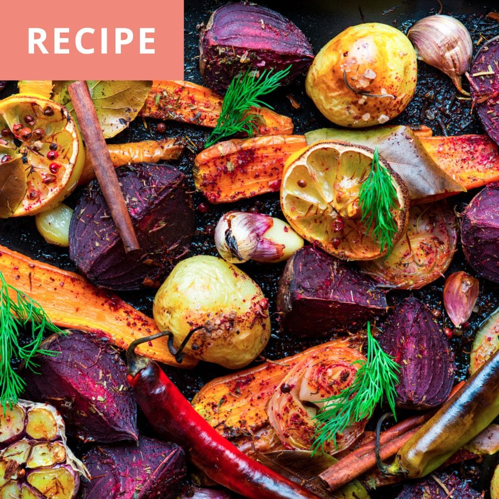 Roasted Rainbow Veggies