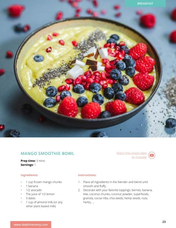 A Happy Healthy Cookbook Mango Smoothie